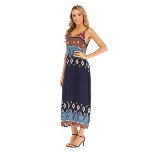 Bohemian holiday beach Chiffon dresses NWT